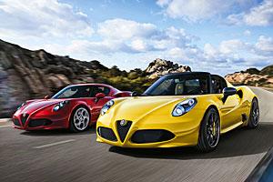 Alfa Romeo 4C und 4C Spider (r.)
