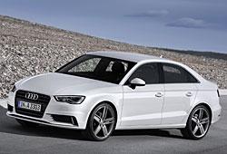 Audi A3 Limousine - seitliche Frontansicht - Farbe Gletscherweiß