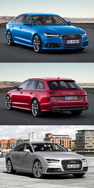 Audi A6 Limousine und A6 Avant (mitte sowie A7 Sportback (unten) zum Modelljahr überarbeitet