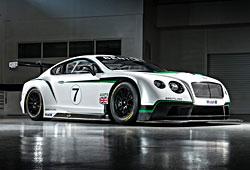 Bentley Continental GT3 - seitliche Frontansicht