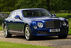 Bentley Mulsanne seitliche Frontansicht