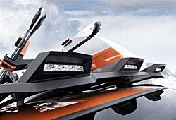 BMW Concept K2 Powder Ride Dachaufbau mit LED-Positionslichtern