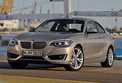 BMW 2er Coupé in der Ausführung Modern Line - Frontansicht