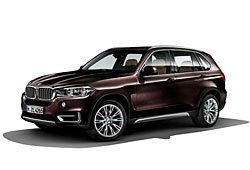 BMW X5 in der Individual-Lackierung Rubinschwarz Metallic und mit Individualfelgen