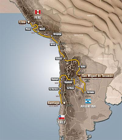 Dakar 2013: Route