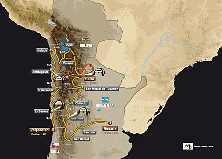 Dakar 2014: Route