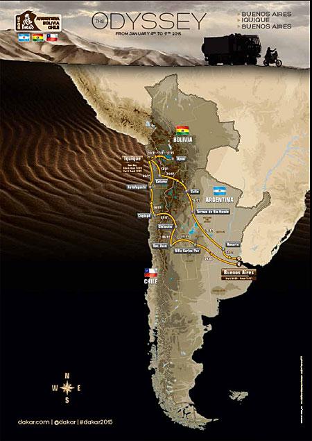 Dakar 2015: Streckenverlauf
