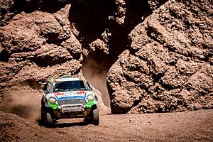 Dakar 2016 - Zehnte Etappe: Rallye-Mini mit van Loon am Steuer
