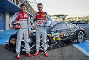 Loic Duval (l.) und Rene Rast fahren 2017 für Audi in der DTM