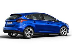 Ford Focus mit fünf Türen - Heckansicht