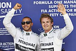 GP Großbritannien - Lewis Hamilton (l.) und Nico Rosberg