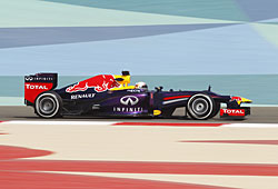 GP Bahrain - Sebastian Vettel in Aktion