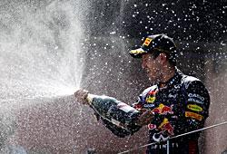 GP Deutschland - Sebastian Vettel bei der Siegerehrung