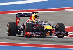 GP USA - Renneni - Sebastian Vettel allein auf weiter Flur