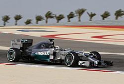 GP Bahrain - Lewis Hamilton auf dem Weg zum Sieg