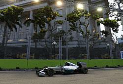 GP Singapur: Nico Rosberg wurde von der Technik ausgebremst