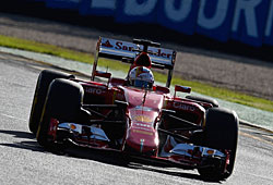 GP Australien - Sebastian Vettel belegte bei seinem Ferrari-Debüt Rang drei