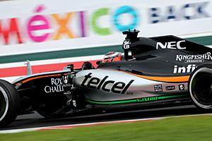 GP Mexiko - Rennen: Nico Hülkenberg (Force India) wird Siebter
