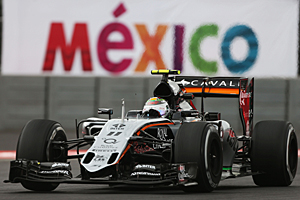 GP Mexiko - Qualifying: Sergio Perez (Force India) bei seinem Heim-Grand-Prix