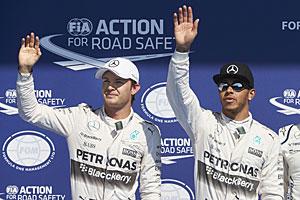 GP Belgien - Rennen: Lewis Hamilton (l.) siegt vor Nico Rosberg