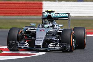 GP Großbritannien - Qualifying: Rosberg hinter Hamilton