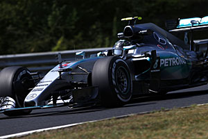 GP Ungarn - Qualifying: Rosberg erneut hinter Hamilton
