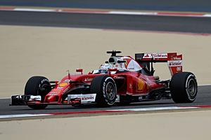 GP Bahrain - Rennen: Pechvogel: Vettels Ferrari-Motor ging in der Einführungsrunde in Rauch auf