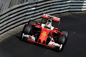 GP Monaco - Qualifiyng: Sebastian Vettel im Leitplankenkanal von Monte Carlo