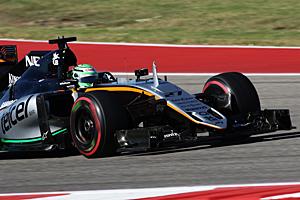 Formel 1 - GP USA - Qualifying: Nico Hülkenberg im Force India erreichte im Qualifying Rang sieben