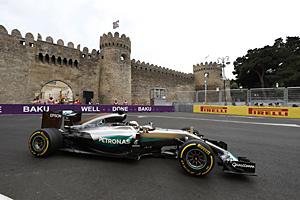 GP Europa- Rennen: Rang fünf für den Weltmeister Lewis Hamilton
