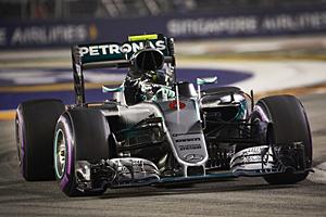 GP Singapur - Rennen: Nico Rosberg: Sieg im 200. Rennen