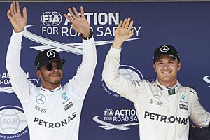 GP Ungarn - Rennen: Lewis Hamilton (links) siegt vor Nico Rosberg