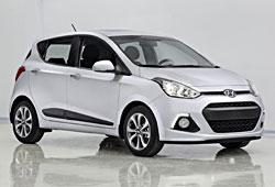 Hyundai i10 - neue Generation in der seitlichen Frontansicht