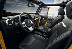 Jeep Wrangler X - Blick ins Interieur