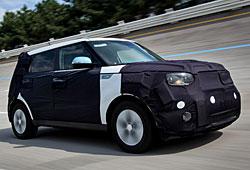 Kia Soul EV - getarnt auf Testfahrt