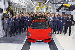 Lamborghini Gallardo - der letzte