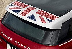 Union-Jack Detail beim Range Rover Evoque-Sondermodell