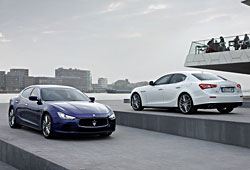Maserati Ghibli - Front- und Heckansicht