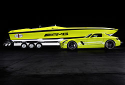 Concept Cigarette AMG Electric Drive und AMG SLS Coupé Electric Drive