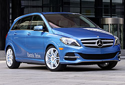 Mercedes B-Klasse Electric Drive - seitliche Frontansicht