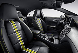 Mercedes CLA Edition 1: Exklusives Polster-Design Neon Art