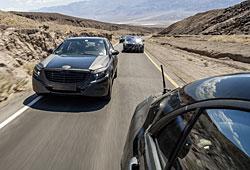 Mercedes S-Klasse Frontansicht getarnt