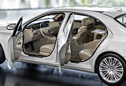Mercedes S 500 lang - Modell von Norev in 1:18 - Einblick in Innenraum