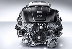 Mercedes V8-Biturbo im  AMG GT