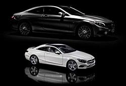 Mercedes S-Klasse Coupé als Modell (weiß)