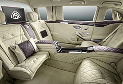 Mercedes-Maybach - Blick in den Fond