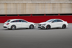 Mercedes CLA Shooting Brake (links) und CLA Coupé