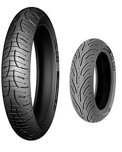 Michelin Pilot Road 4 - Vorder- und Hinterreifen (v. l. n. r.)