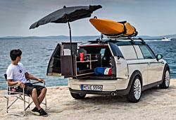 Mini Clubvan Camper - Einblick ins Heck