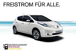 Nissan-Aktion kostenlos Strom laden